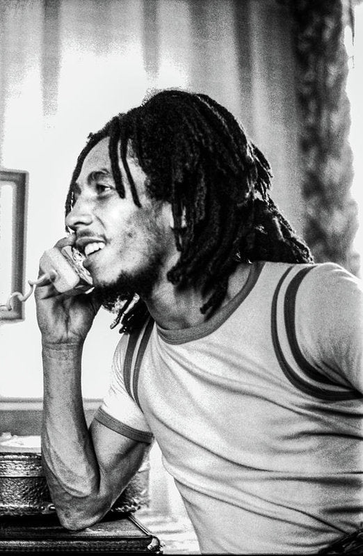 Bob Marley On Phone - Art Print