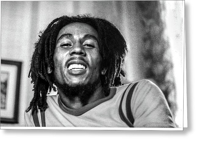 Bob Marley Smiles During Interview - Greeting Card