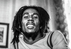 Bob Marley Smiles During Interview - Art Print
