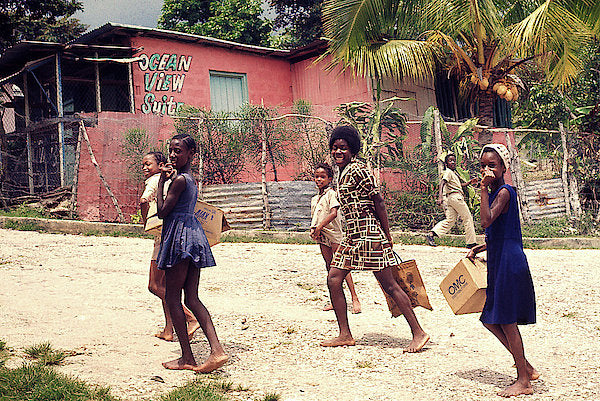 Children On Their Way In Jamaica - Art Print
