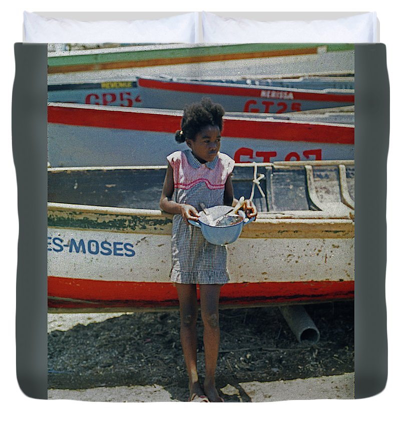 Girl By Boats - Duvet Cover