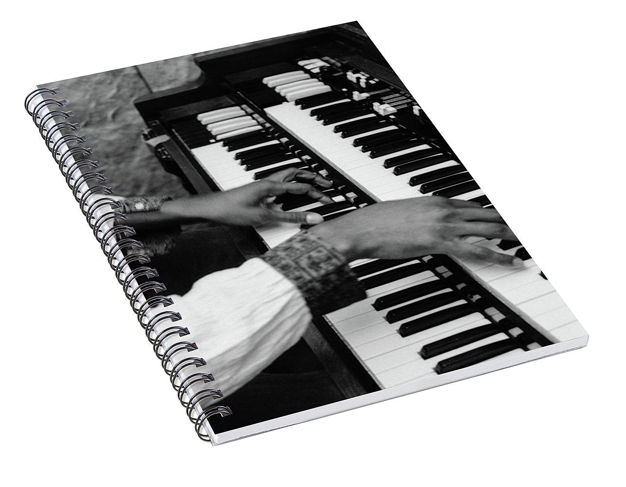 Hands Of Music  Musician Wya - Spiral Notebook