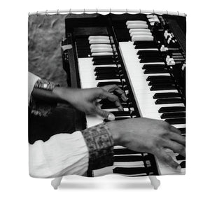 Hands Of Music  Musician Wahai - Shower Curtain