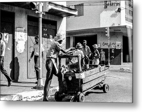 Vendor In The  Streets Of Kingston - Metal Print