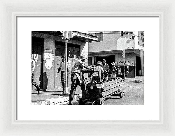Vendor In The  Streets Of Kingston - Framed Print