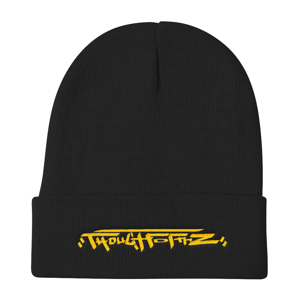 ThoughtFormZ Logo Knit Beanie with Yellow Logo