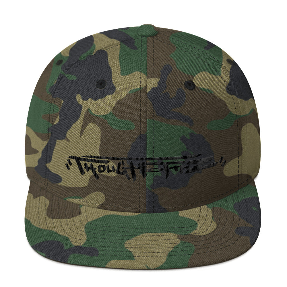 ThoughtFormZ Black & Gold Stitch Snapback Hat