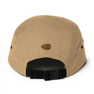 ThoughtFormZ Gold and Black Stitch Five Panel Cap