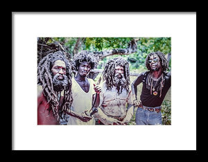 Peter Tosh In Yard With His Bred'ren  - Framed Print