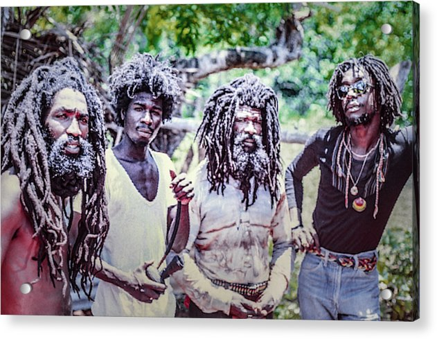 Peter Tosh Hanging With His Bred'ren - Acrylic Print