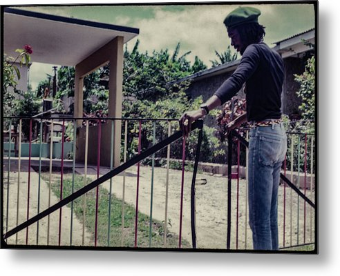 Peter Tosh Opens Gate To His Home  - Metal Print