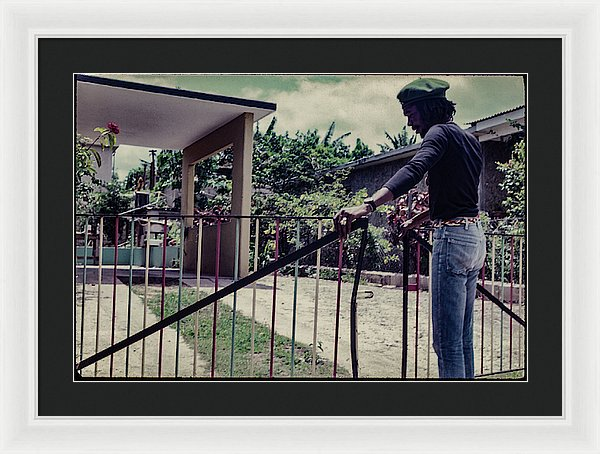 Peter Tosh Opens Gate To His Home - Framed Print
