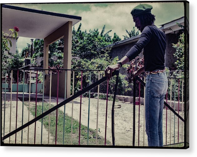 Peter Tosh Opens Gate To His Home  - Acrylic Print