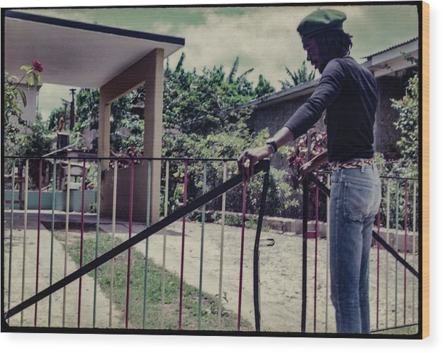 Peter Tosh Opens Gate To His Home - Wood Print