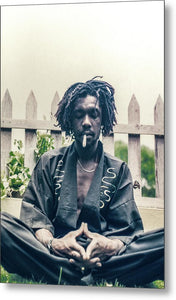 Peter Tosh In Meditation With Spliff - Metal Print