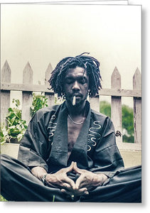 Peter Tosh In Meditation With Spliff - Greeting Card
