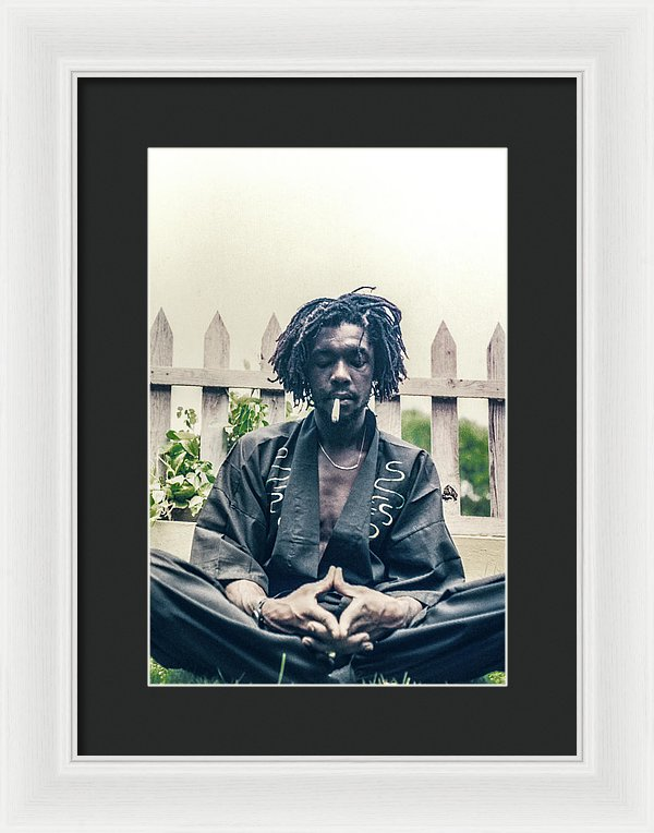 Peter Tosh In Meditation With Spliff - Framed Print