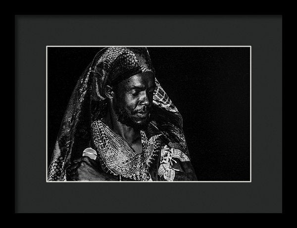 Peter Tosh Performance - Framed Print