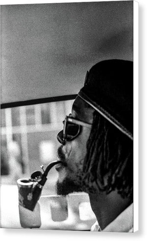 Peter Tosh Profile With Herb Pipe  - Canvas Print