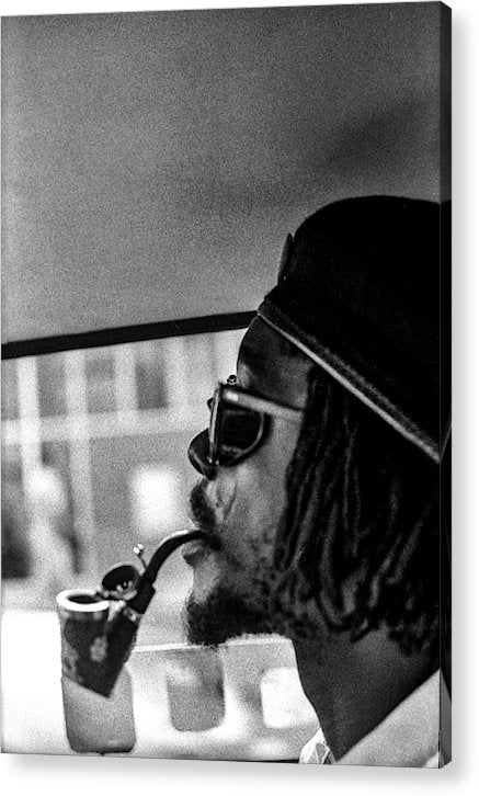 Peter Tosh Profile With Herb Pipe  - Acrylic Print