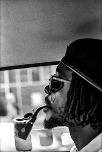 Peter Tosh Profile With Herb Pipe  - Art Print