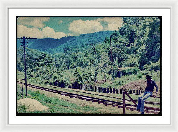 Peter Tosh Waiting For The Roots Man By The Tracks- Framed Print