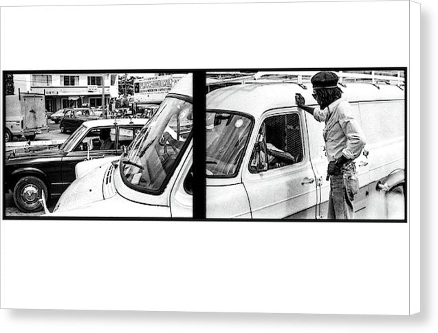 Peter Tosh Talking With Locals  - Canvas Print