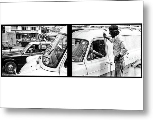Peter Tosh Talking With Locals  - Metal Print