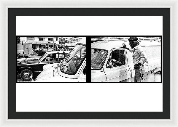 Peter Tosh Talking With Locals  - Framed Print
