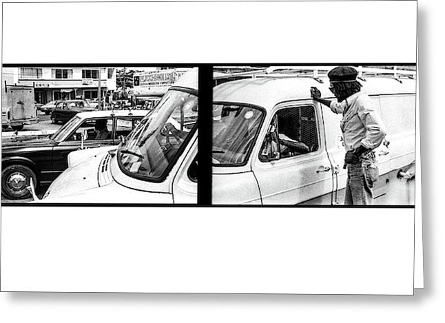 Peter Tosh Talks To Someone In Traffic - Greeting Card