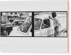 Peter Tosh Talks To Someone In Traffic - Wood Print