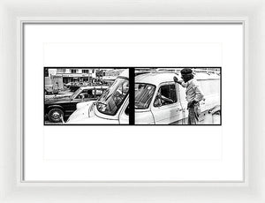 Peter Tosh Talks To Someone In Traffic - Framed Print