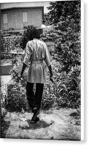 Peter Tosh Walking In His Yard - Canvas Print