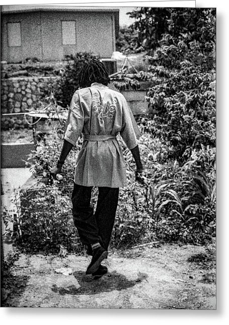 Peter Tosh Walking In His Yard - Greeting Card