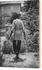 Peter Tosh Walking In His Yard - Wood Print