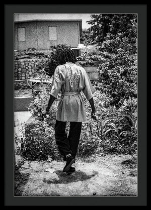 Peter Tosh Walking In His Yard - Framed Print