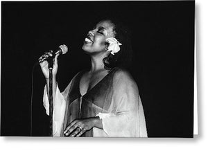 Roberta Flack Performing in Kingston, Jamaica - Greeting Card