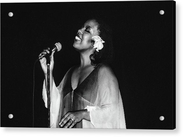 Roberta Flack Performing in Kingston, Jamaica - Acrylic Print