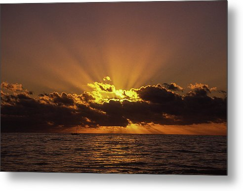 Sunset In Jamaica - Metal Print