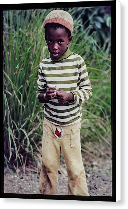 Young Boy in Jamaica In Jamaica- Canvas Print