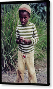 Young Boy In Jamaica- Acrylic Print