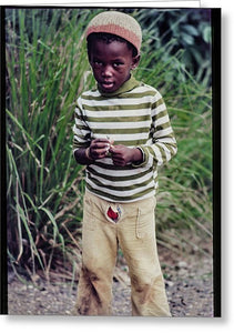 Young Boy In Jamaica- Greeting Card