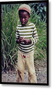 Young Boy In Jamaica- Metal Print