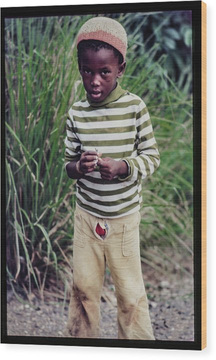 Young Boy In Jamaica- Wood Print