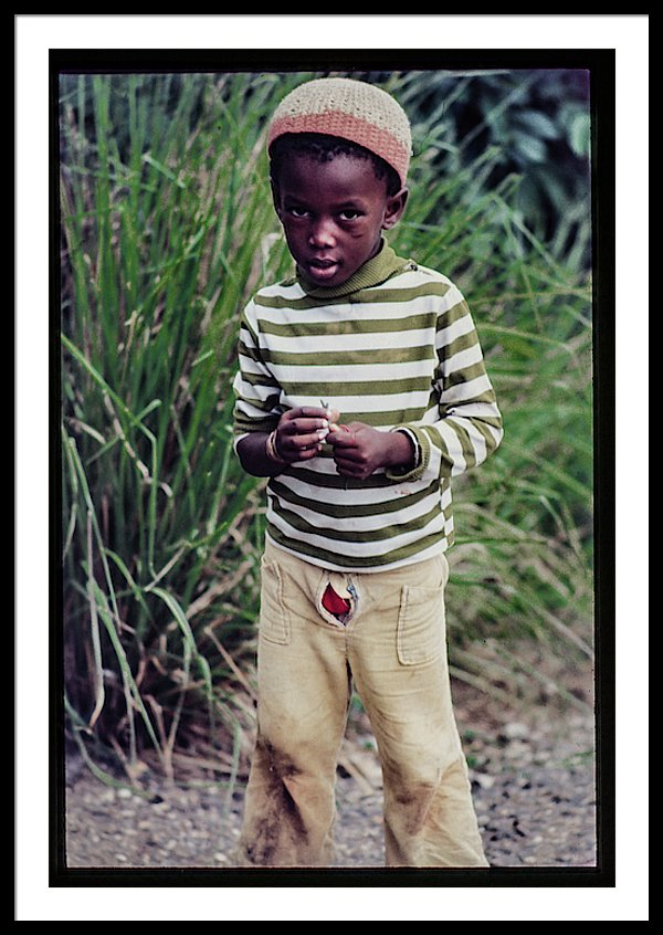 Young Boy In Jamaica - Framed Print