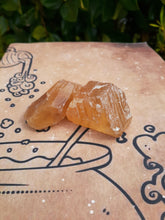 Load image into Gallery viewer, Amber/Honey Calcite Stone (small)