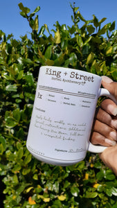 15 oz Signature Prescription Mug | King Street Apothecary