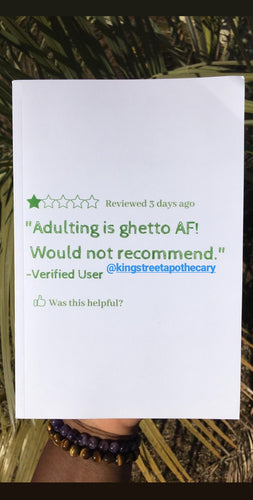 Adulting Is Ghetto AF 1 Star Review Journal