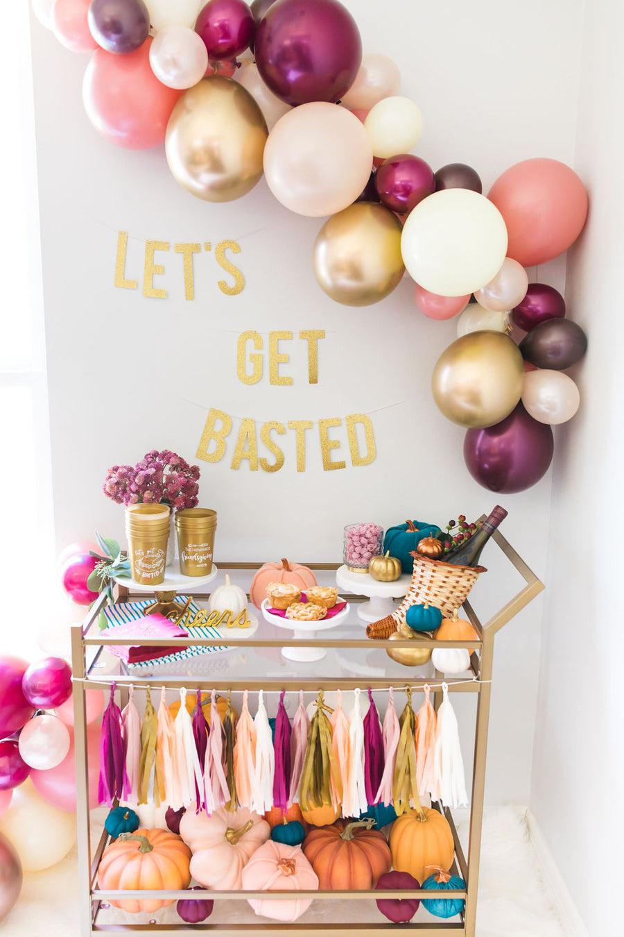 Let's Get Basted Friendsgiving Banner