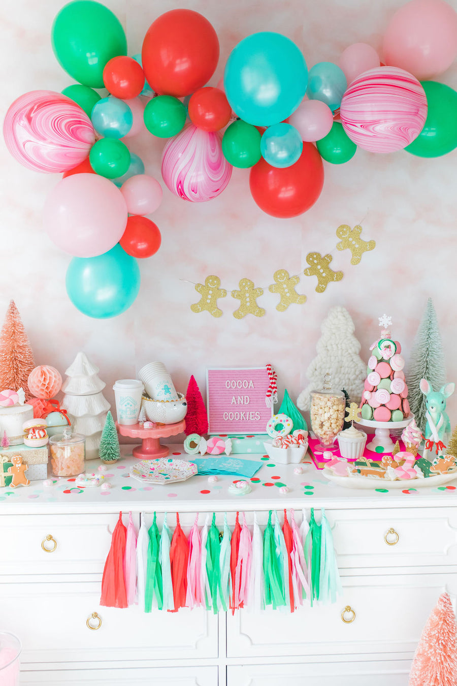 Colorful Christmas Balloon Garland Kit